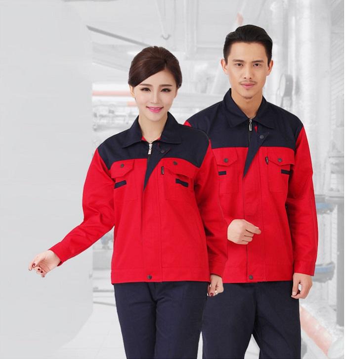 Đồng phục công nhân xây dựng áo dài tay