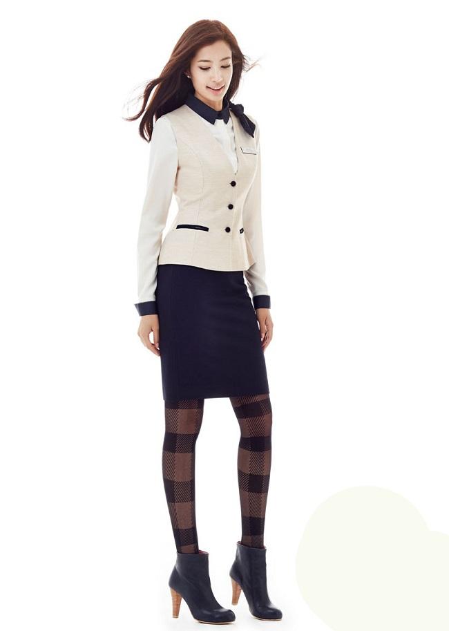 Mẫu gile nữ đẹp, set đồ đồng phục công sở nữ đẹp 2017 - Ảnh mẫu 2