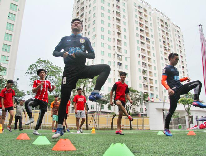 Buổi tập của học sinh THPT Trần Quốc Tuấn.