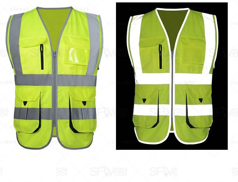 Áo gile bảo hộ có may thêm các dây vải phản quang