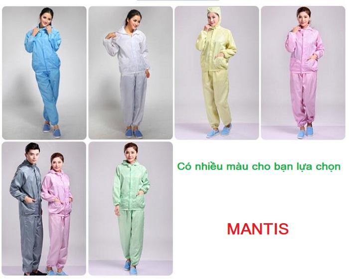 May quần áo chống tĩnh điện phòng sạch tại Hà Nội