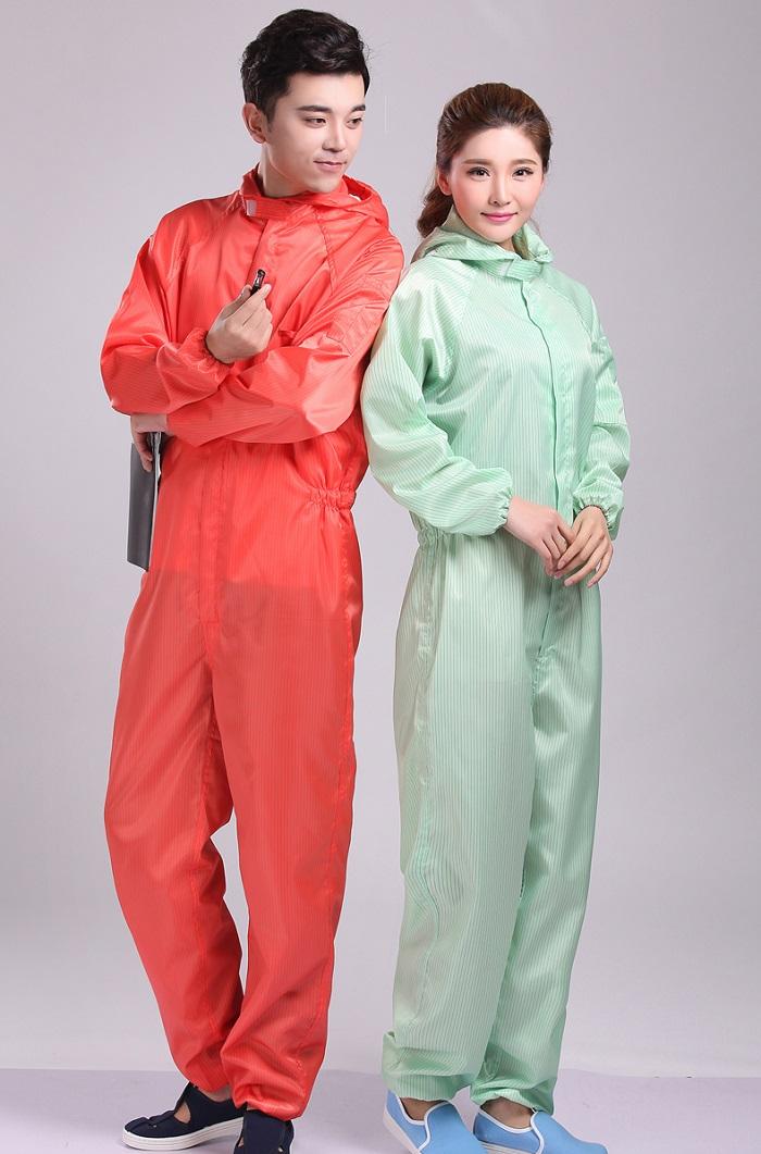 Quần áo phòng sạch dạng jumpsuit