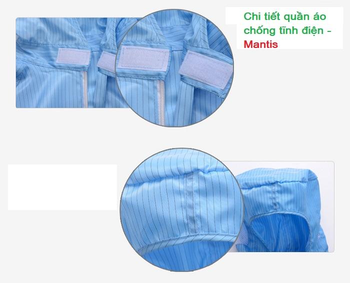 Quần áo chống tĩnh điện dạng jumpsuit - Mantis