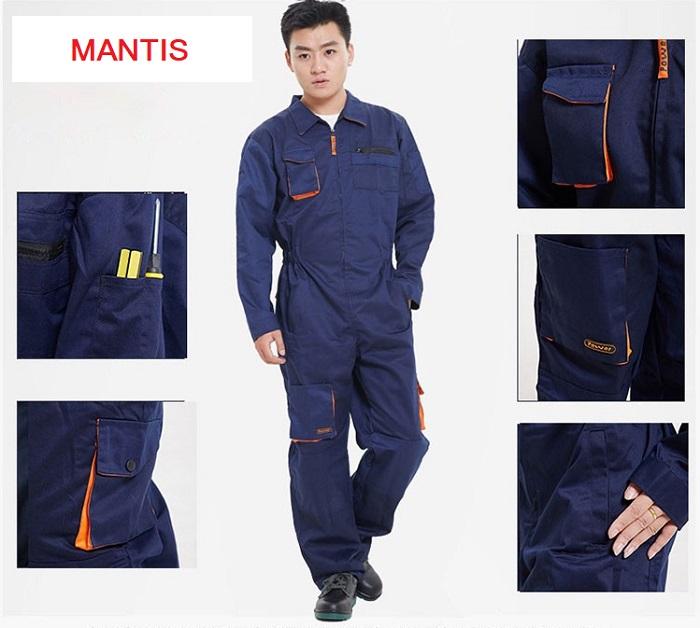 Quần áo công nhân giá rẻ nhất - Bảo hộ Mantis