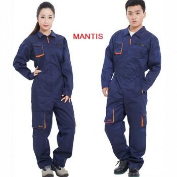 Quần áo đồng phục công nhân màu xanh đậm, chống gió