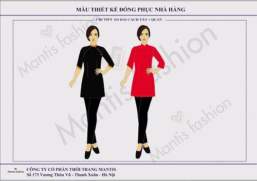 Mẫu thiết kế tổng thể đồng phục các bộ phận nhà hàng khách sạn 3 sao tại Việt Nam.
