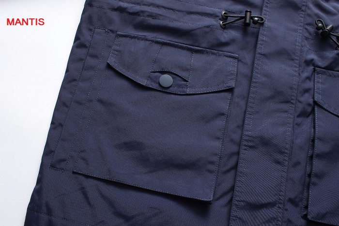 2 túi ốp sườn của áo khoác gió
