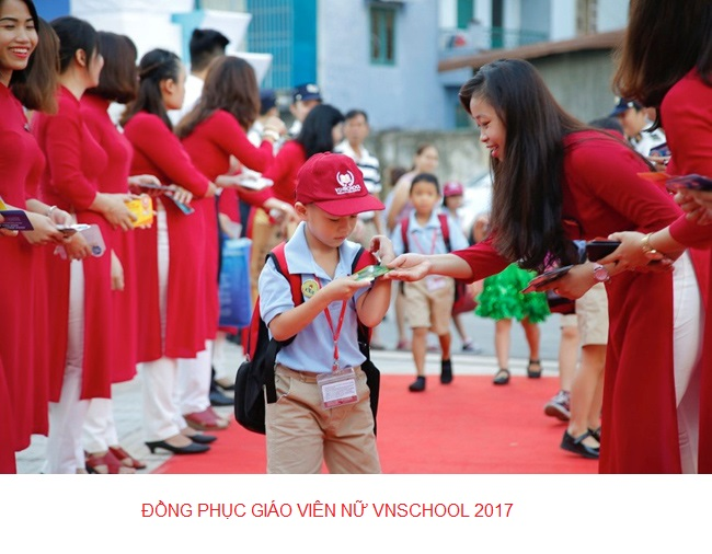 đồng phục giáo viên nữ tiều học vinschool.