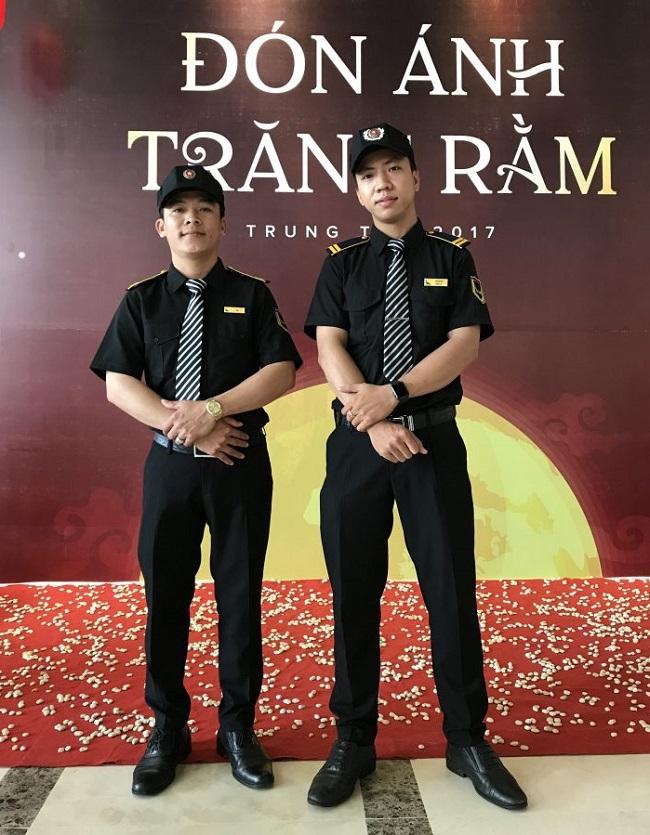 Đồng phục nhân viên bảo vệ - vệ sĩ của khách sạn Mường Thanh.
