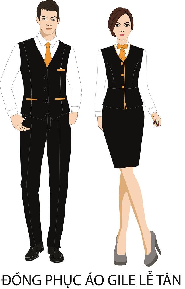 đồng phục lễ tân nhà hàng khách sạn