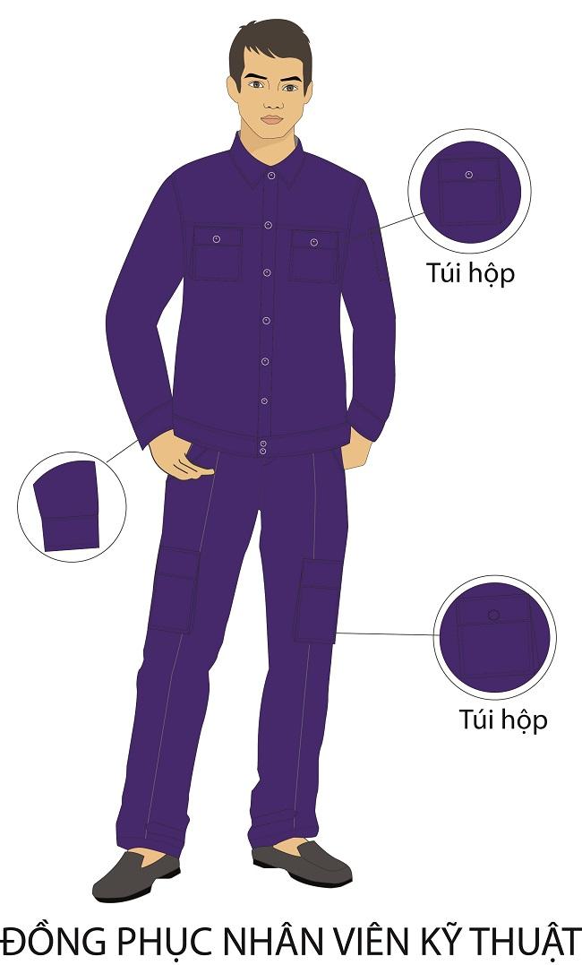 Mẫu thiết kế đồng phục khách sạn 3 sao tại Việt Nam. Mẫu đồng phục bảo trì