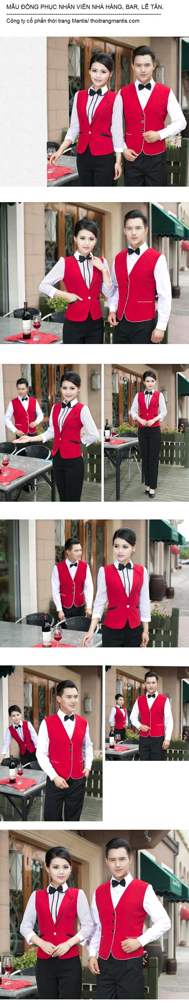 Hình ảnh mẫu gile cho nhân viên nhà hàng khách sạn. Ảnh 1