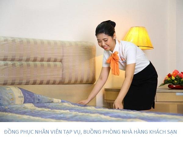 Đồng phục tạp vụ, buồng phòng nhân viên nhà hàng khách sạn đẹp