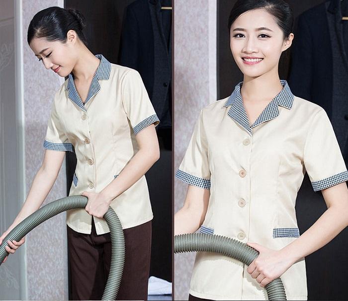 Thiết kế mẫu đồng phục nhân viên vệ sinh buồng phòng