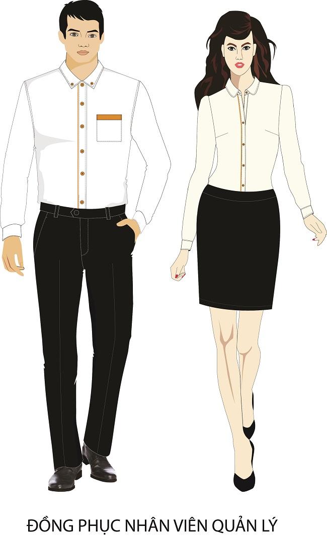 Mẫu thiết kế đồng phục quản lý nhà hàng khách sạn