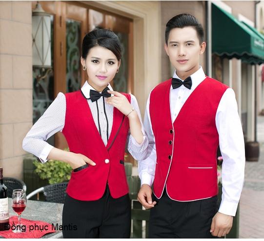 Mẫu đồng phục gile nam, nữ nhân viên nhà hàng khách sạn