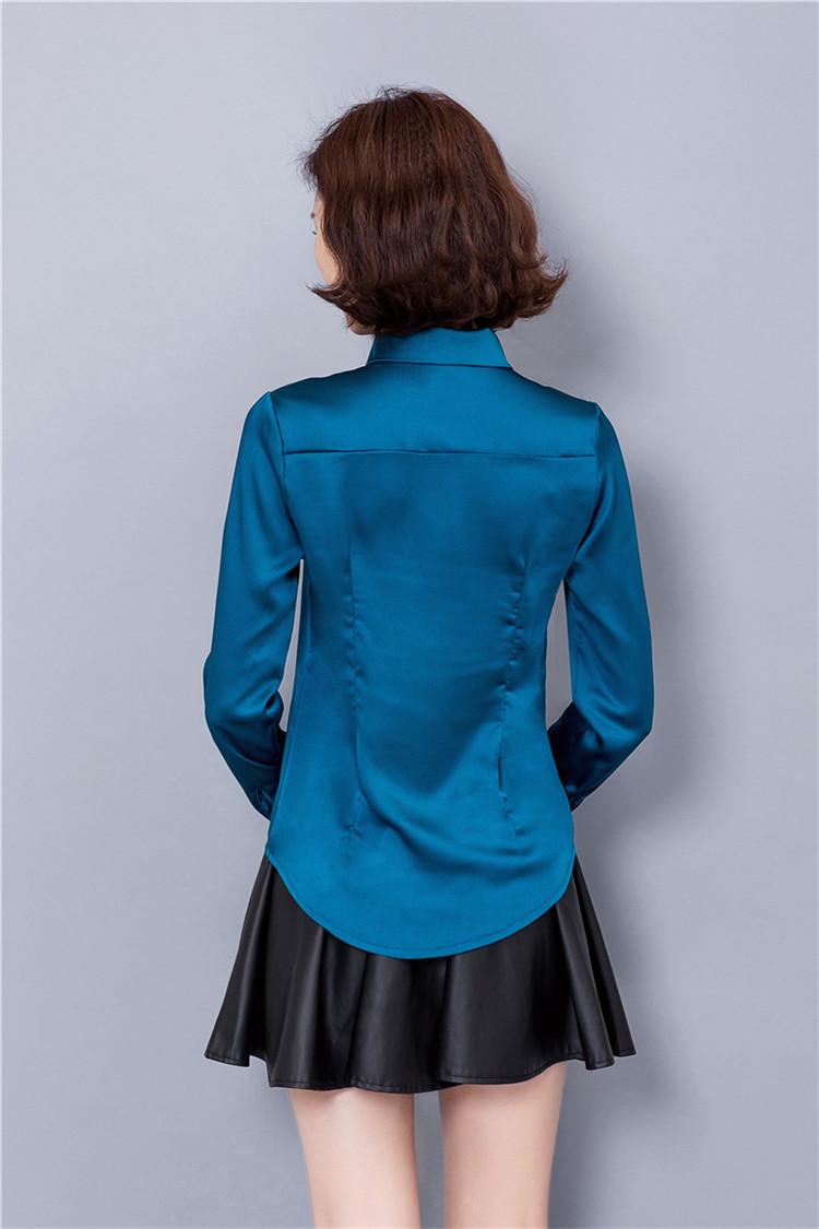 ảnh mẫu sản phẩm đồng phục sơ mi nữ xanh lục đẹp(phía sau)