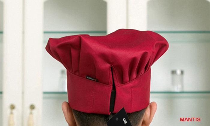 Mũ bếp vải cho nhà hàng - Hình ảnh chụp từ phía sau