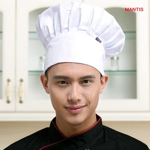 Mũ bếp vải cho đầu bếp nhà hàng