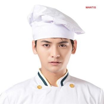 Nón làm bếp màu trắng