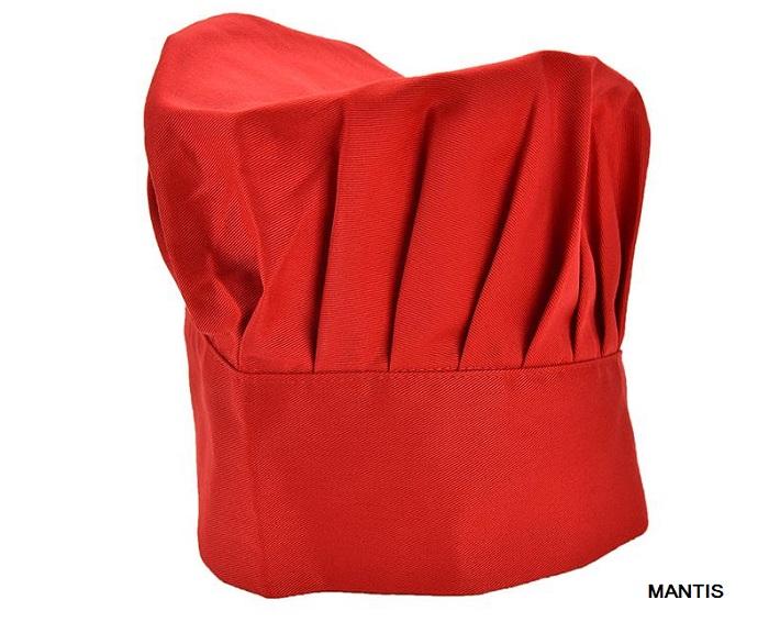 Nón đầu bếp vải màu đỏ hình nấm