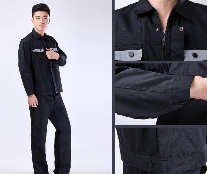 Hình ảnh chi tiết quần áo đồng phục cho công nhân