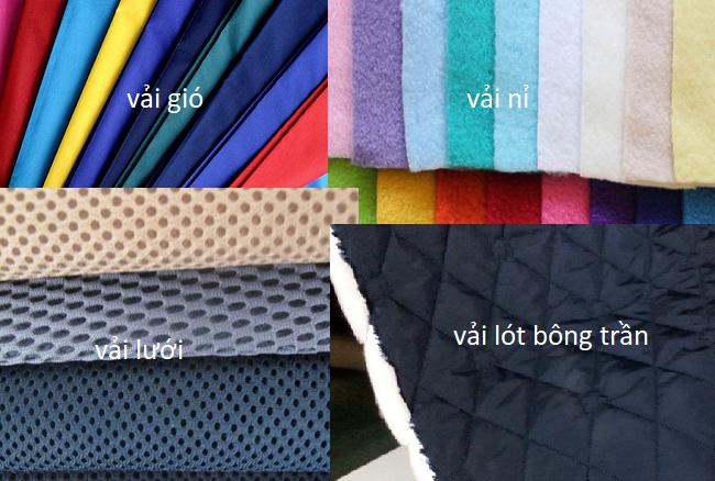 Các loại vải phổ biến may đồng phục áo khoác gió đẹp