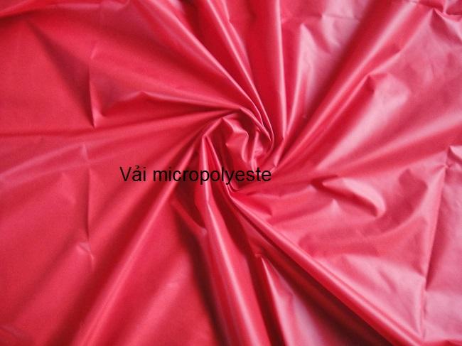 Vải may áo khoác gió dệt từ sợi micropolyeste