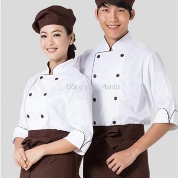áo bếp bán sẵn cho nam, nữ.