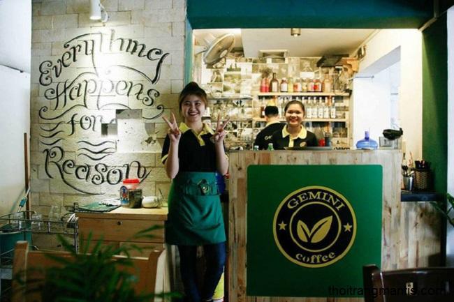 Mẫu đồng phục quán cà phê geminu cho nữ