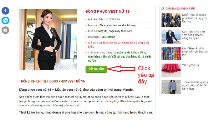 May đồng phục vest nữ tại Hà Nội đẹp rẻ