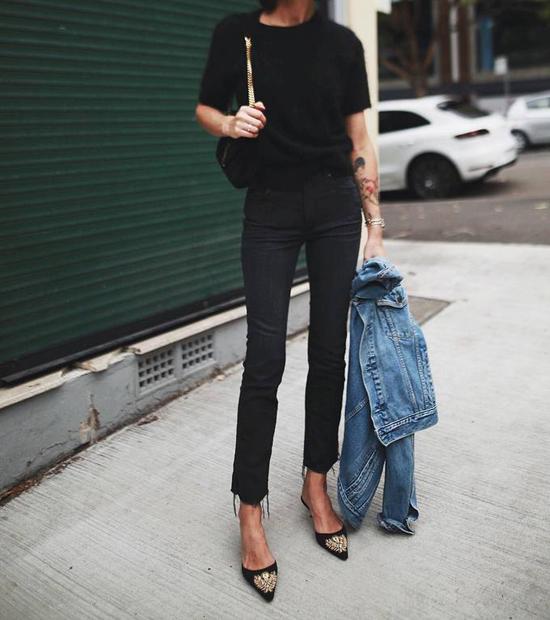 áo thun trơn mầu đen