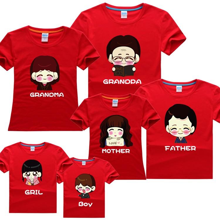 Đồng phục áo phông đẹp dành cho đại gia đình