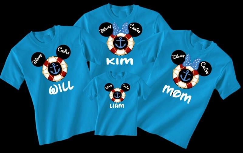 Áo phông gia đình 4 người phong cách Disney