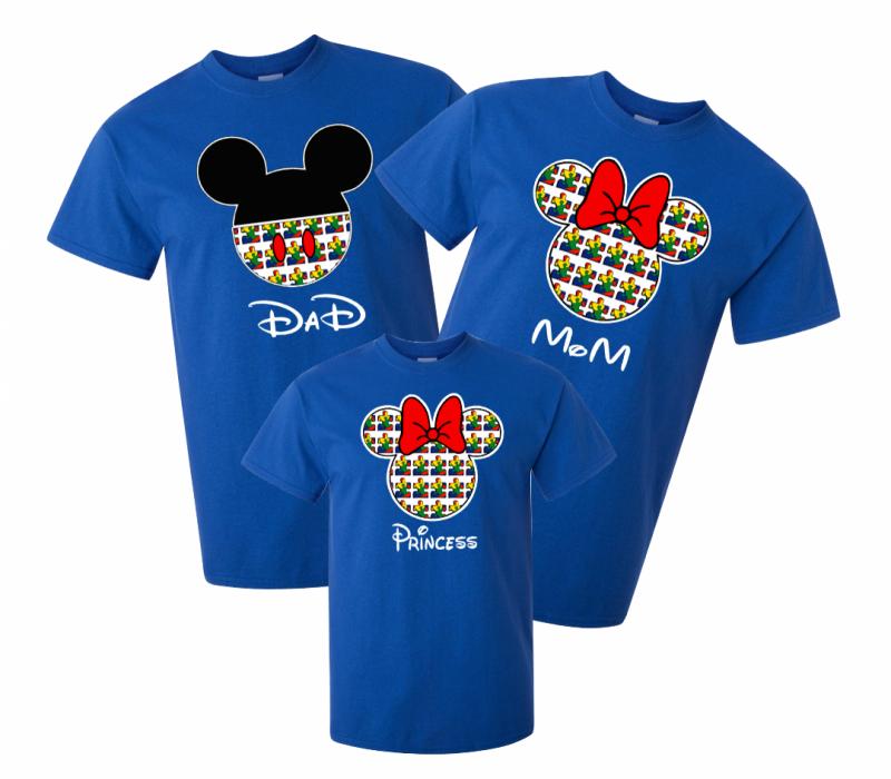 Mẫu áo phông gia đình 3 người thiết kế đẹp