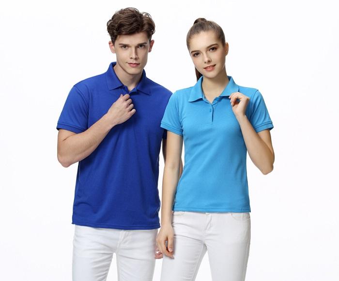 Đồng phục áo phông công sở có cổ dành cho nam và nữ