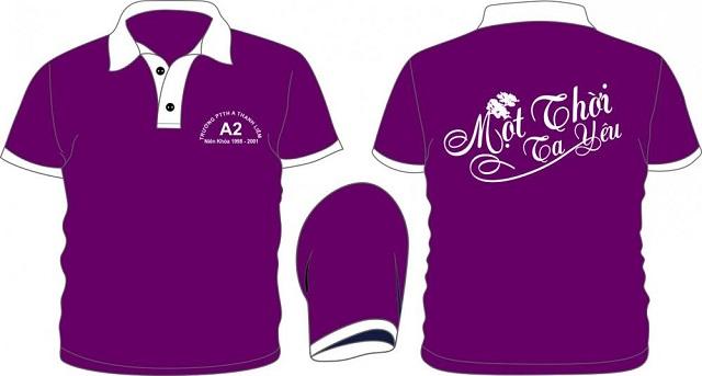 Thiết kế áo phông đồng phục lớp đẹp
