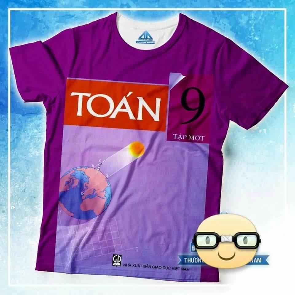 Đồng phục áo phông học sinh in hình bìa sách toán 9