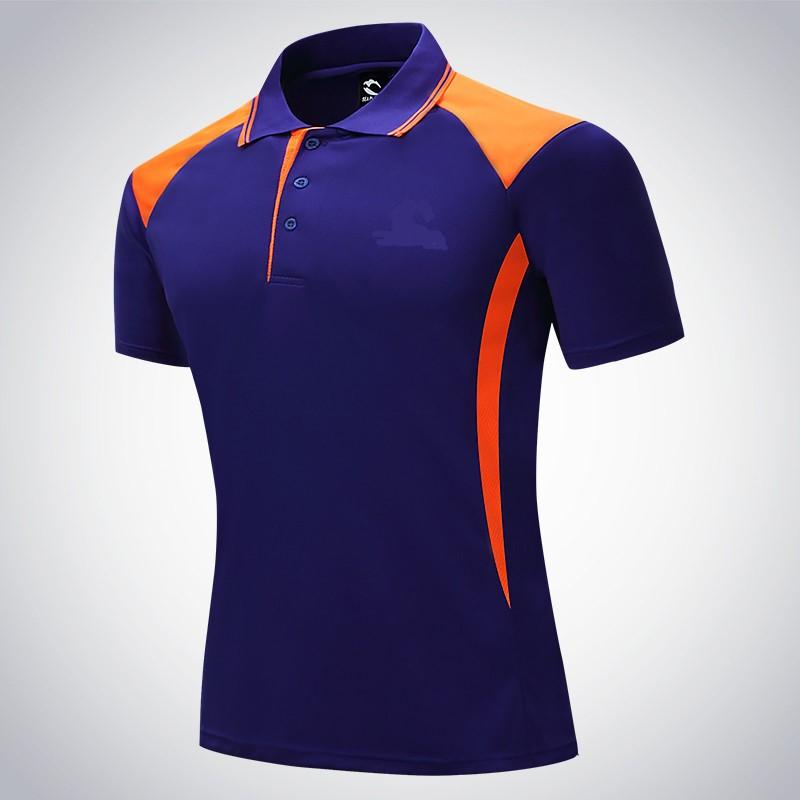 Đồng phục áo phông cổ trụ phong cách thể thao