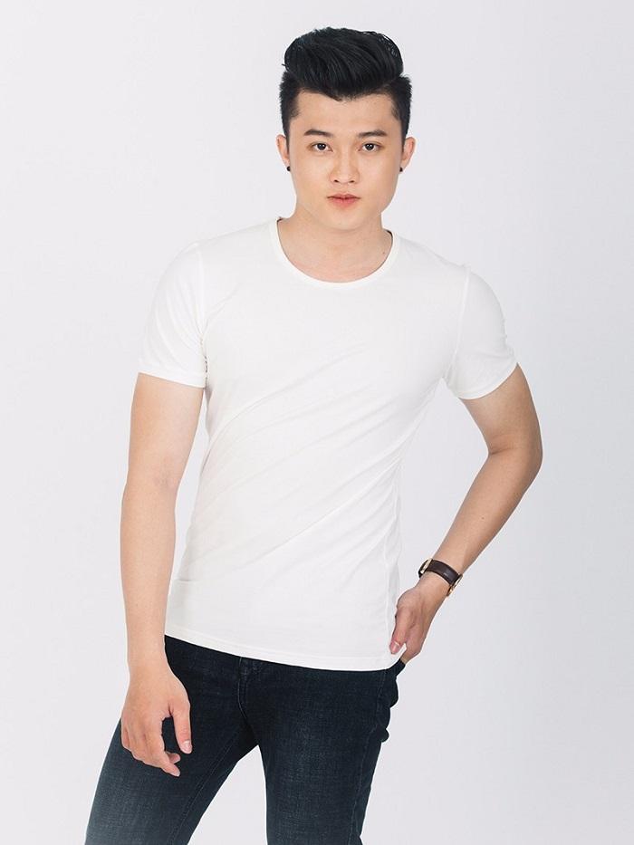 Áo phông nam trắng