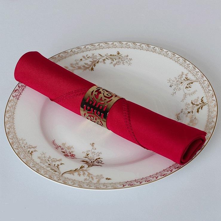 Khăn napkin màu đỏ