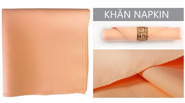 Khăn napkin chất liệu polyester chống nhăn, bền đẹp, giá rẻ