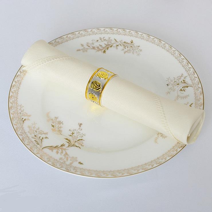 Khăn napkin màu ngà kích thước 50x50 cm