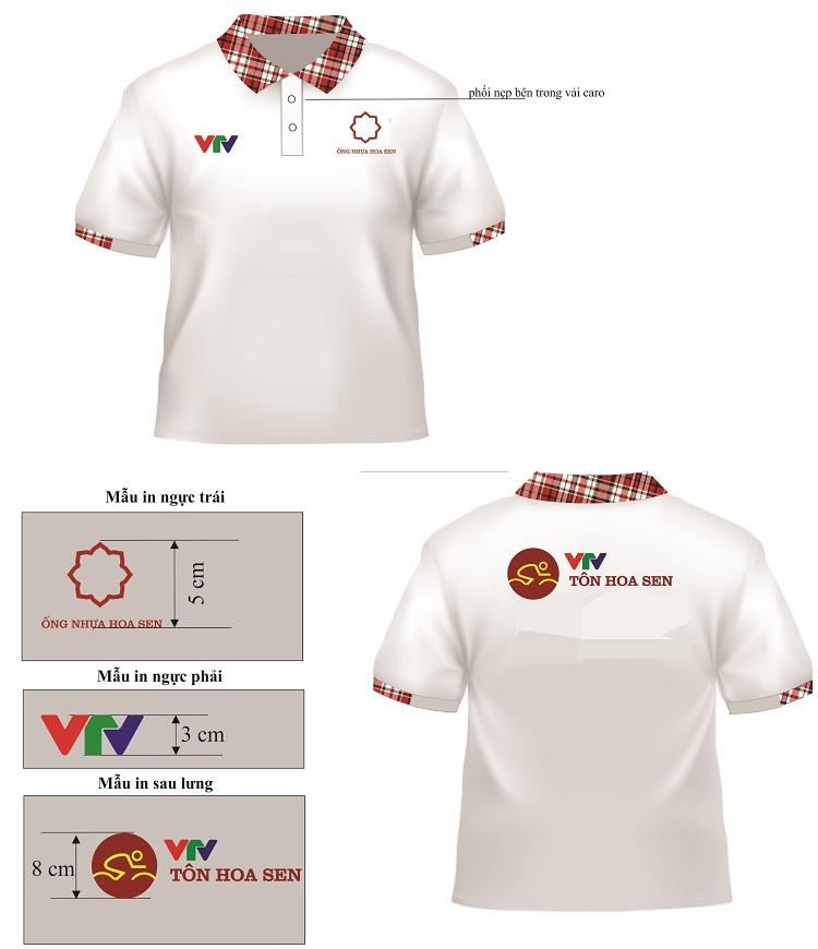 Mẫu thiết kế áo phông giải đua xe đạp cúp VTV Tôn Hoa Sen.