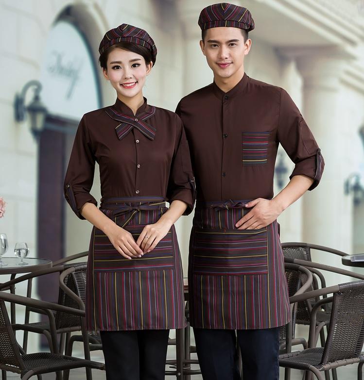 mẫu đồng phục nhân viên quán cà phê
