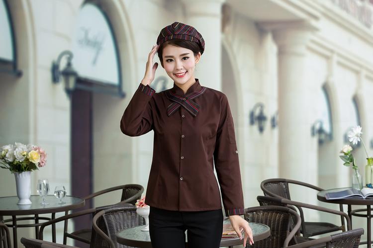 đồng phục nhân viên nữ mầu cà phê