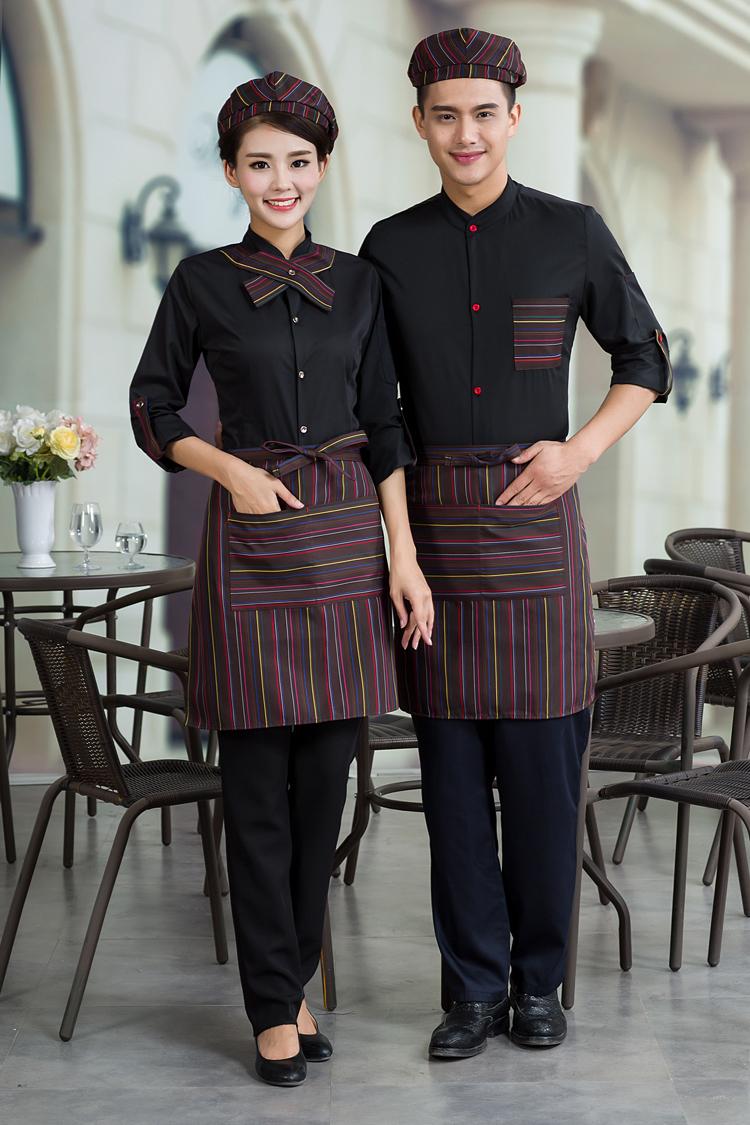 đồng phục quán cà phên mầu đen