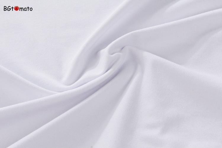 vải áo thun mầu trắng