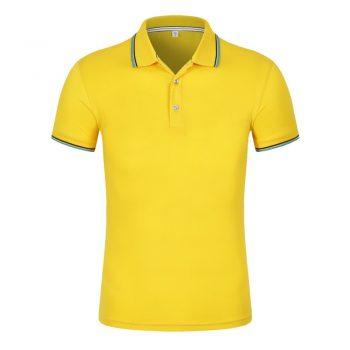 Đồng phục áo phông công ty mầu vàng có cổ đẹp