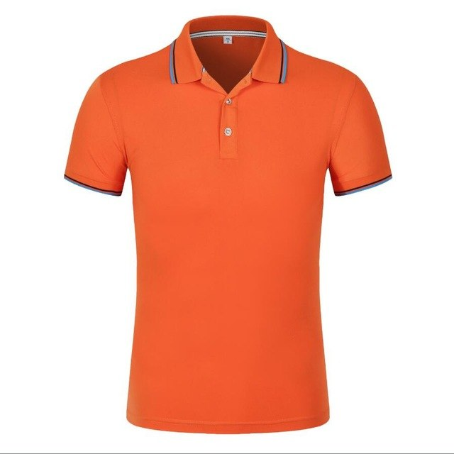 mẫu áo phông có cổ mầu cam